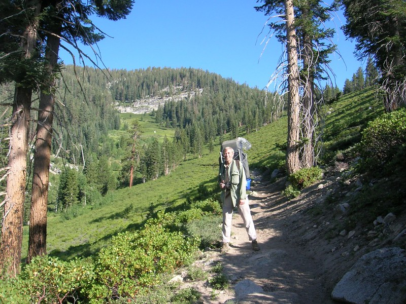 Me, hiking in Upper Tent Meadow.