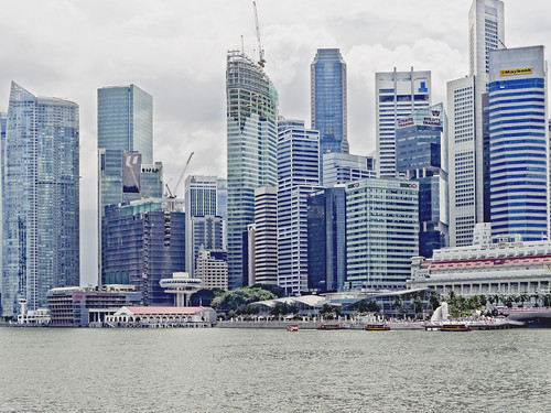 Singapore Financial District Buildings, Marina Bay