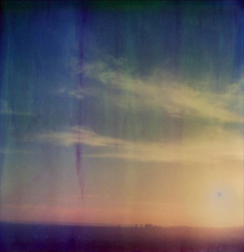 california santa sunset toby sun project polaroid sx70 artistic over monica tip hancock tz impossible timezero the artistictz theimpossibleproject tobyhancock