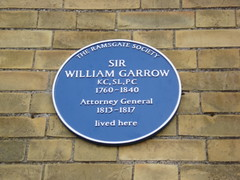 Photo of William Garrow blue plaque