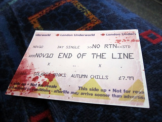 "Ticket showing ""End of the Line"""