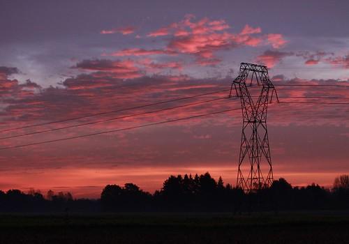 sunrise alsace sonnenaufgang elsass orschwiller airedeselestat