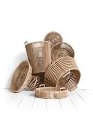 brown, wicker, basket,