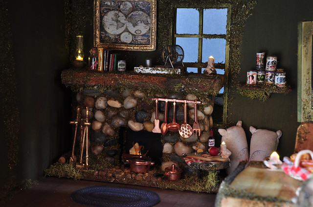 Fireplace with fairy lights flickr photo sharing - Fairy House Fireplace Flickr Photo Sharing