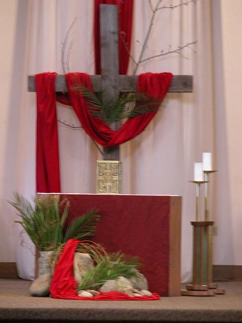 Pentecost altar flickr photo sharing for Altar decoration ideas