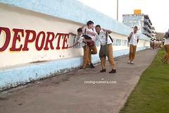 Clowning School Boys in Baracoa, Cuba, Jan. 2014