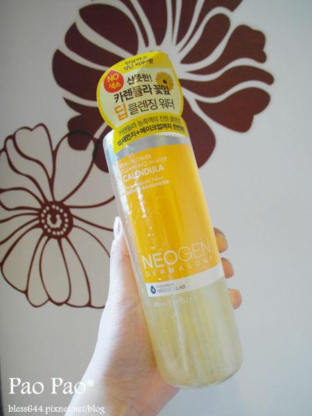 韓國 NEOGEN DERMALOGY新鮮花瓣全效保養卸妝水 清爽鎮定型(金盞花)