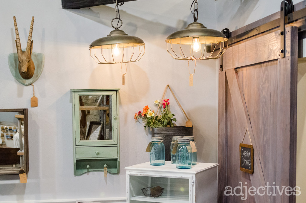 Vintage Lighting, Custom Barn Doors, and home decor by Resurrected Owl in Adjectives Altamonte