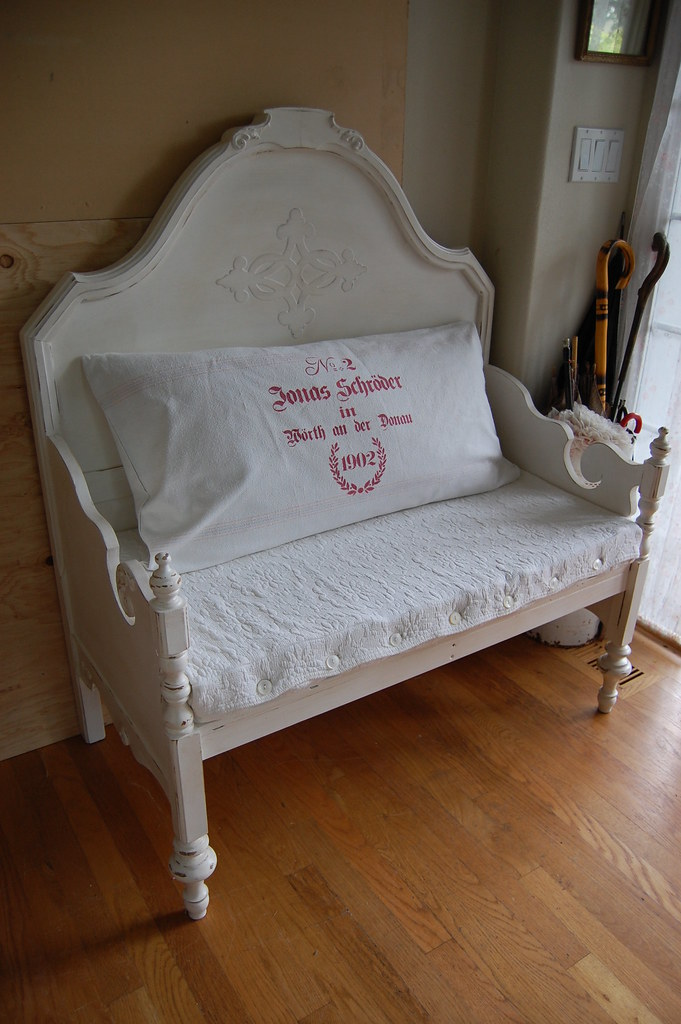 Bench Made From Bed Headboard And Footboard A Photo On