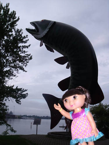 Dora and Husky the Muskie, Kenora, ON