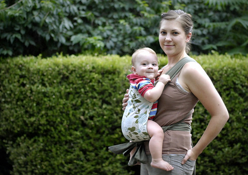 wearing mei-tai baby carrier