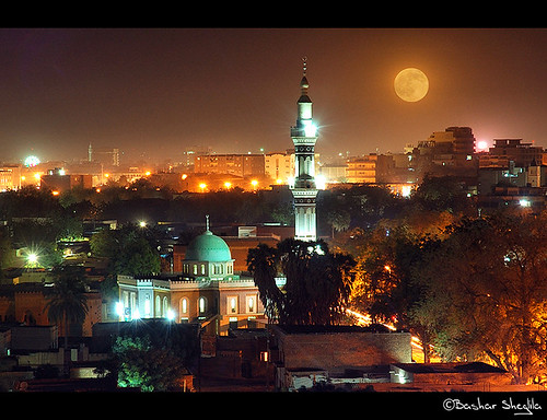 africa light red moon night view sudan mosque khartoum masjid redmoon محمد عبد شارع الخرطوم السودان المنعم ☆thepowerofnow☆