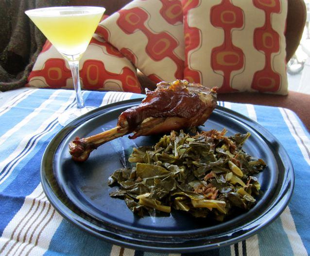 Sunday dinner, collard greens, smoked turkey leg and the b… | Flickr ...
