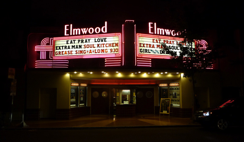 Great Vintage Movie Marquee:  Elmwood Theater, College Avenue, Berkeley CA