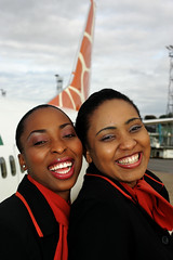 Smiling Zambezi Airlines Cabincrew