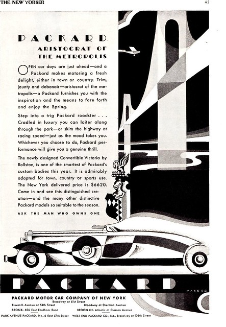 1931 Packard New York Dealers Ad, Aristocrat of the Metropolis