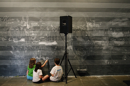 Kids compose music for Christian Marclay