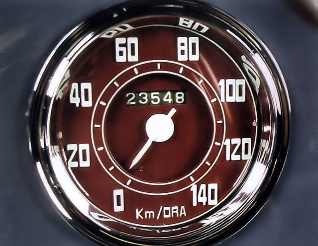 1949 Fiat 750 MM Panoramica Zagato - gray - speedo