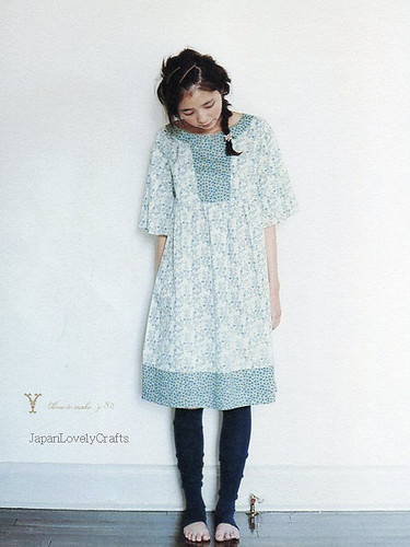 ADULT COUTURE - ONE PIECE DRESS AND TUNIC BLOUSE BY YOSHIKO TSUKIORI, JAPANESE SEWING PATTERN BOOK FOR ADULT WOMEN, NATURAL ONEPIECE 13