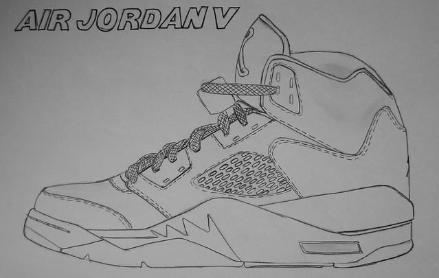 How To Draw Air Jordan 5