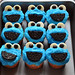 Sally makes her own cookie monster cupcakes by chilebeans