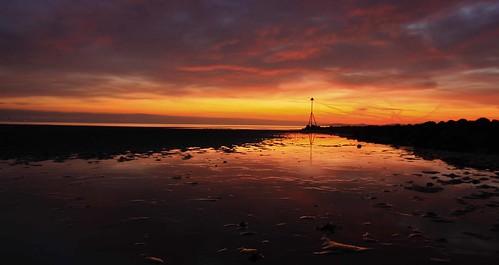 sunrise reflections colwynbay rockyshore northwalescoast 1020mmsigma welshflickrcymru mygearandmepremium