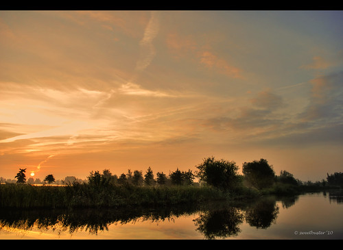 "sunrise dawn nederland thenetherlands friesland leeuwarden fryslân ochtendgloren zonsopkomst top20holland camminghaburen ""flickraward"" ouddeel heitelân"