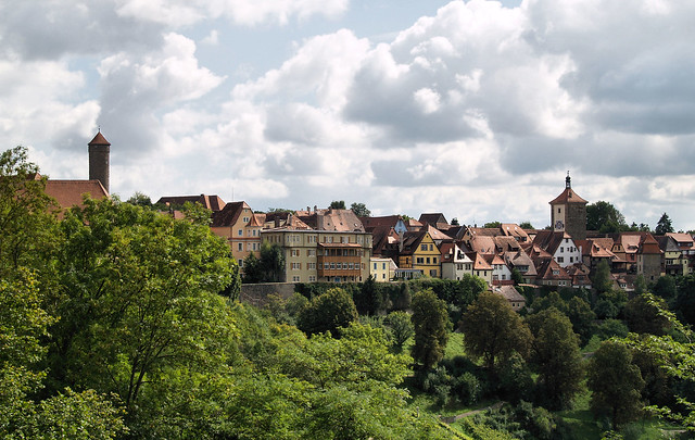 View of Rothenburg from the City Gardens