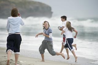 Students on St Kilda Beach, Dunedin