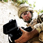 Combat Camera Team Videographer at Work in Afghanistan