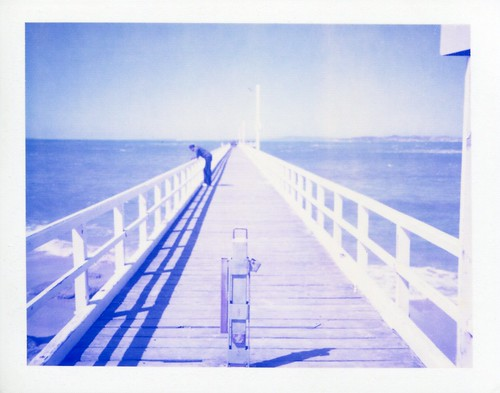 Pier in Polaroid Blue
