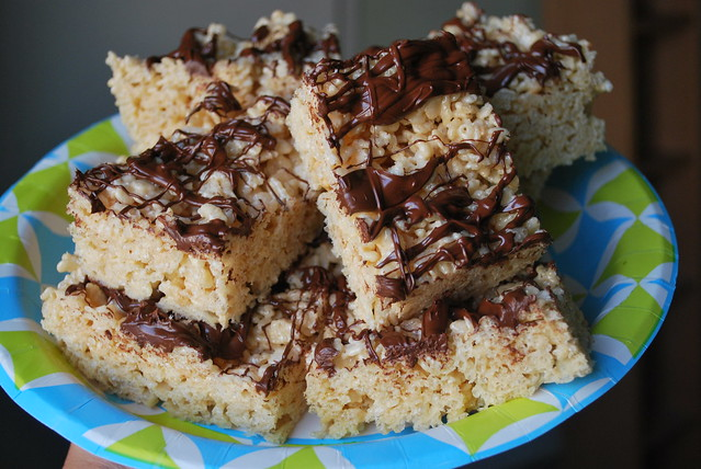 Peanut Butter & Chocolate Rice-Cereal Treats
