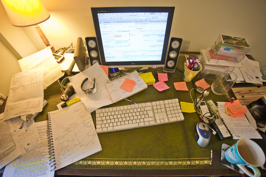 My messy desk