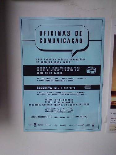 Oficinas de Comunicação no Telecentro