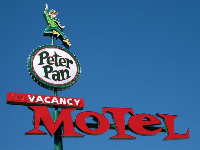 Peter Pan Motel - 110 North 13th Street, Las Vegas, Nevada U.S.A. - July 4, 2010