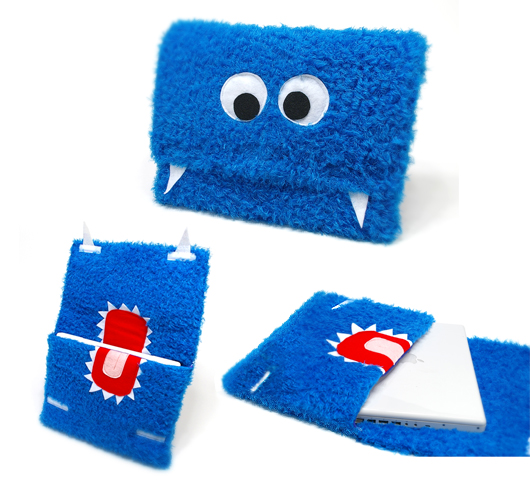 Monster laptop sleeves by Barry`s Farm