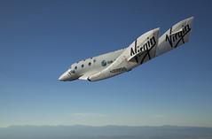 VSS Enterprise during her maiden glide flight test flight. Photo by Mark Greenberg