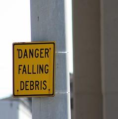 Watch for litter plummeting from above.