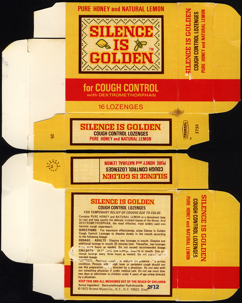 Bristol Myers Silence Is Golden For Cough Control Coug Flickr