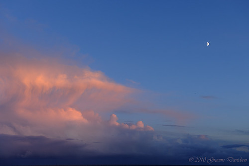 Clouds and Moon 2010-11-14 by G Davidson