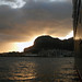 Small photo of Sunrise behind the Rock of Gibraltar