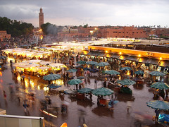 Djemaa el Fna in the rain