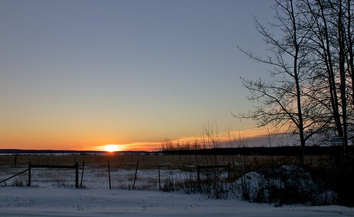 snow field sunrise fence 18270mm
