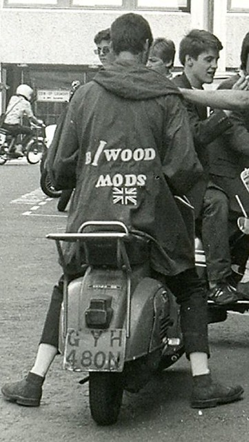 Mod on a scooter in London (1979)