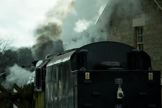 20170330-42_Steam and Smoke_Black Five Engine 5MT 45407 at Levisham Station