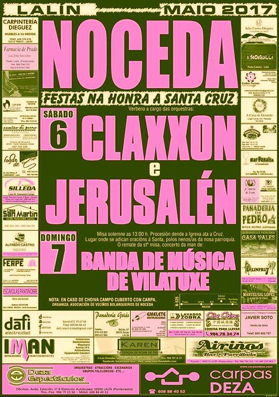 Lalín 2017 - Festas de Santa Cruz en Noceda - cartel