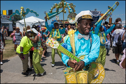 Ole & Nu Style Fellas SA & PC during Jazz Fest day 7 on May 7, 2017. Photo by Ryan Hodgson-Rigsbee www.rhrphoto.com