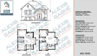Plan de maison 1 étage - MM1e.17