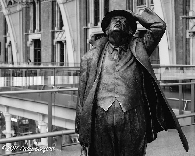 Sir John Betjeman statue, London St Pancras