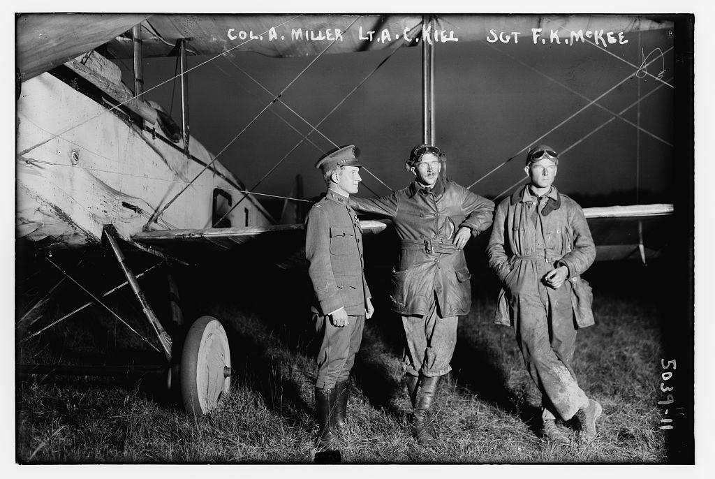 Col. A. Miller, Lt. E.C. Kiel, Sgt. F.K. McKee (LOC)